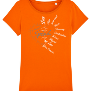 "T-Shirt ""Spirit"" orange"